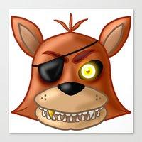 fnaf Canvas Prints featuring FNAF Foxy by Bloo McDoodle