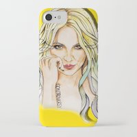 britney iPhone & iPod Cases featuring BRITNEY YELLOWNEY by CARLOS CASANOVA