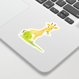 Baby Animal Watercolor Giraffe Adorable Nursery Sticker