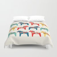 swedish Duvet Covers featuring Swedish Horses by Running River Design