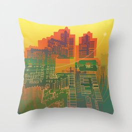 Station / Spatial Factor 19-12-16 Throw Pillow
