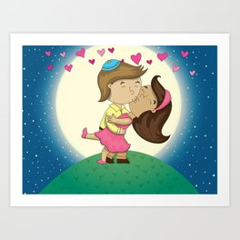 Love in the Mountains  Art Print