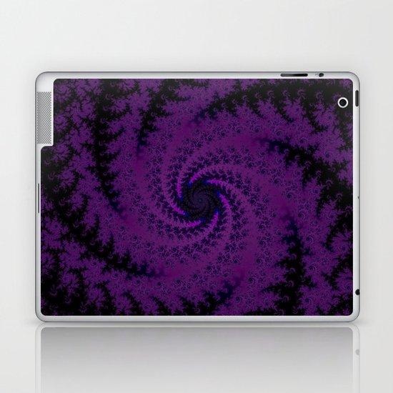 Purple Spiral Fractal Design Laptop & iPad Skin