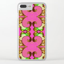Vintage Groovy Bougie Geometric Clear iPhone Case