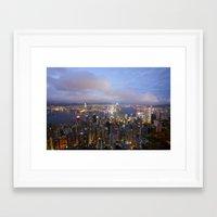 hong kong Framed Art Prints featuring Hong Kong by iamkin