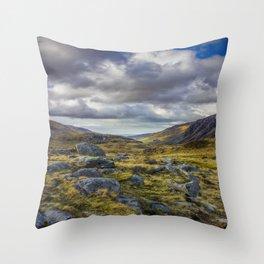 Nant Ffrancon Valley Throw Pillow