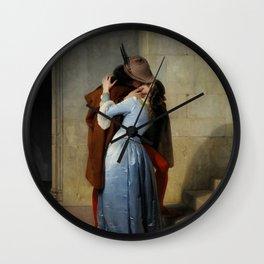 The Kiss (Il Bacio) - Francesco Hayez 1859 Wall Clock