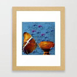BUTTERFLY LOVE Framed Art Print