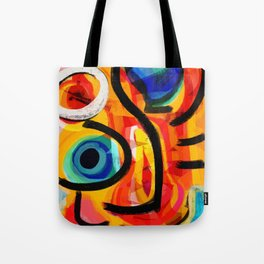 Abstract Art Good Energy Summer Vibes Tote Bag