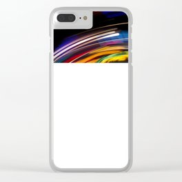 Traces of colored lights Clear iPhone Case