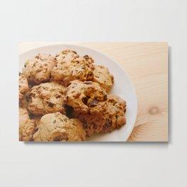Chocolate chip and pecan cookies Metal Print