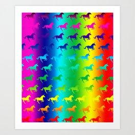 Psychedelic Unicorn Pattern Art Print