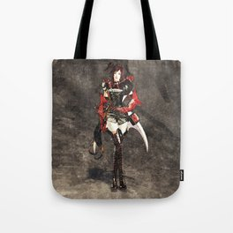 Armored woman Tote Bag