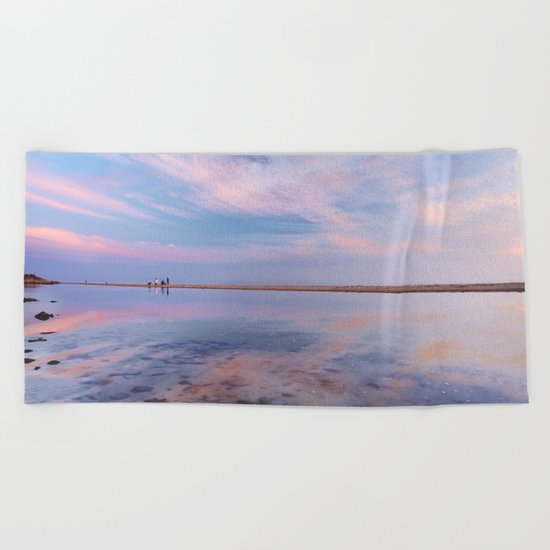 """Heaven walk"". Tarifa beach Beach Towel"