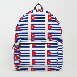 Flag of Cuba 2 -cuban,havana, guevara,che,castro,tropical,central america,spanish,latine Backpack
