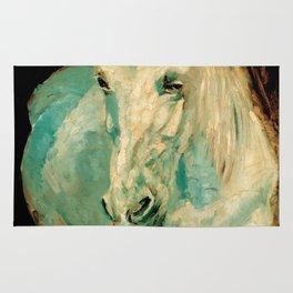 "Henri de Toulouse-Lautrec ""The White Horse Gazelle"" Rug"