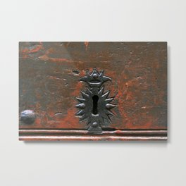 Antique Keyhole Metal Print