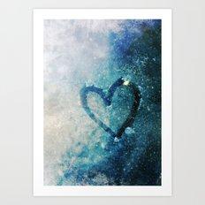 Icy Heart Art Print
