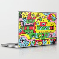 ice cream Laptop & iPad Skins featuring Ice Cream by Rabassa