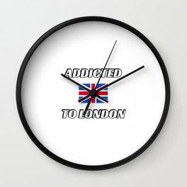 British Flag - Addicted to London Wall Clock