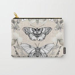 Three Moths Carry-All Pouch