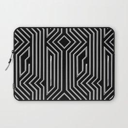 3-D Art Deco Silver Architectural Design Laptop Sleeve