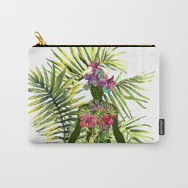 beautiful woman doing yoga meditation Carry-All Pouch