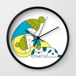 Snow Mom Wall Clock