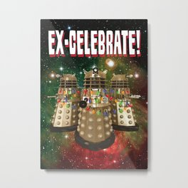 Holiday Daleks Metal Print