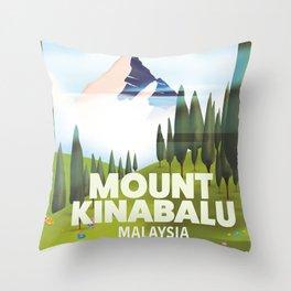 Mount Kinabalu Malaysia Throw Pillow