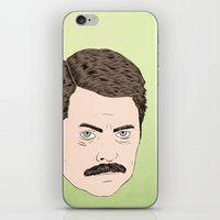 swanson iPhone & iPod Skins featuring Ron Swanson by Chase Kunz