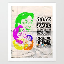 Bill Hicks tribute Art Print
