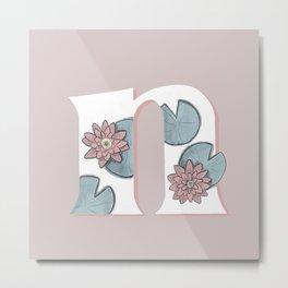 Nymphaeaceae (water lily) Metal Print