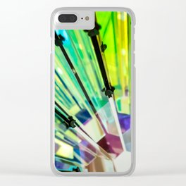 Abstract Kaleidoscopic Colour Riot Clear iPhone Case