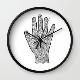 Aries Hand / Hamsa Wall Clock