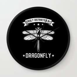 Dragonfly Insects Saying Wall Clock