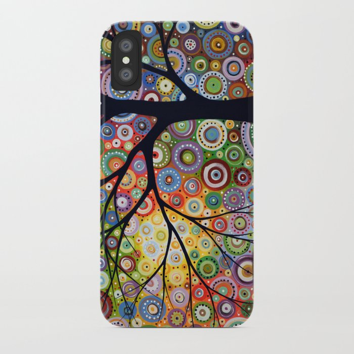 Abstract Landscape Original Painting...VISIONS OF NIGHT, by Amy Giacomelli iPhone Case