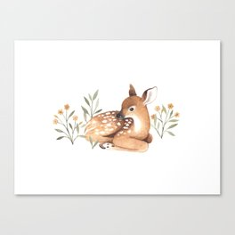 Meadow and Fawn Canvas Print