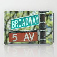 broadway iPad Cases featuring Sign Broadway 5 Ave by Premium