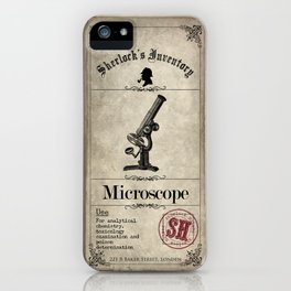 Sherlock Holmes Inventory - Microscope iPhone Case