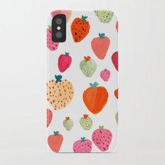 strawberry iPhone X Slim Case