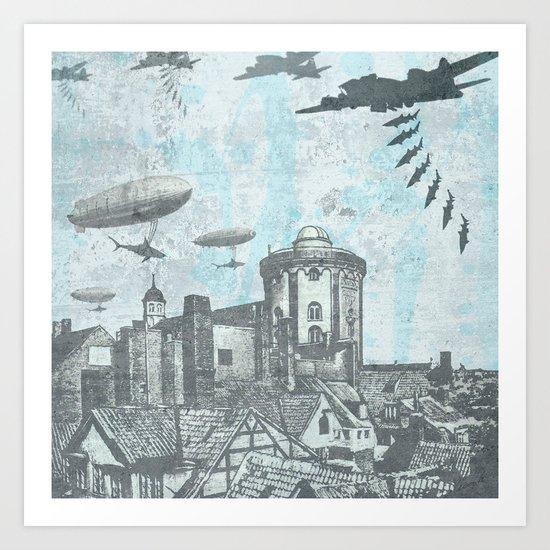 Shark Bomb Art Print