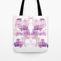 rorschach Tote Bags featuring Rorschach by Adrienne