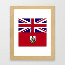 Bermuda flag emblem Framed Art Print