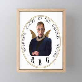 Ruth Bader Ginsburg - RBG Framed Mini Art Print