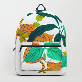 Leopards Playing among Plants Backpack