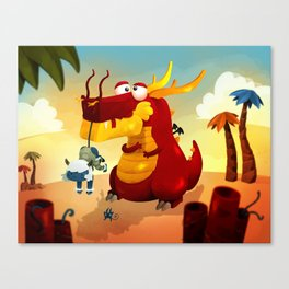Dragonnet Rouge Canvas Print