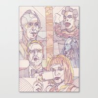 fifth element Canvas Prints featuring The Fifth Element by La May