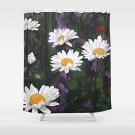 Garden Daisies Shower Curtain
