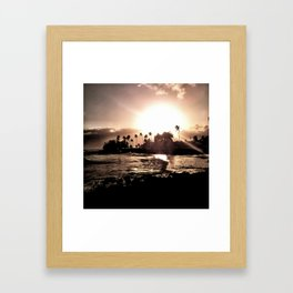 Sunset Peace Framed Art Print